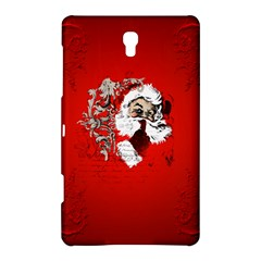 Funny Santa Claus  On Red Background Samsung Galaxy Tab S (8.4 ) Hardshell Case