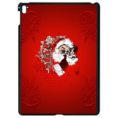 Funny Santa Claus  On Red Background Apple Ipad Pro 9 7   Black Seamless Case