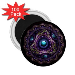 Beautiful Turquoise and Amethyst Fractal Jewelry 2.25  Magnets (100 pack)