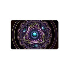 Beautiful Turquoise and Amethyst Fractal Jewelry Magnet (Name Card)