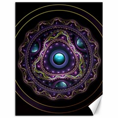 Beautiful Turquoise and Amethyst Fractal Jewelry Canvas 12  x 16