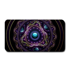 Beautiful Turquoise And Amethyst Fractal Jewelry Medium Bar Mats