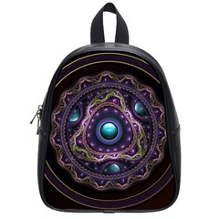 Beautiful Turquoise and Amethyst Fractal Jewelry School Bags (Small)