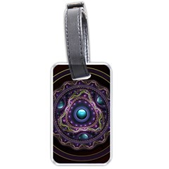 Beautiful Turquoise and Amethyst Fractal Jewelry Luggage Tags (Two Sides)