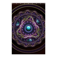 Beautiful Turquoise and Amethyst Fractal Jewelry Shower Curtain 48  x 72  (Small)