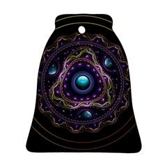 Beautiful Turquoise and Amethyst Fractal Jewelry Ornament (Bell)