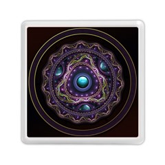Beautiful Turquoise and Amethyst Fractal Jewelry Memory Card Reader (Square)