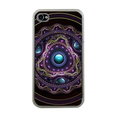 Beautiful Turquoise and Amethyst Fractal Jewelry Apple iPhone 4 Case (Clear)