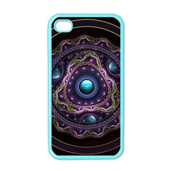 Beautiful Turquoise and Amethyst Fractal Jewelry Apple iPhone 4 Case (Color)
