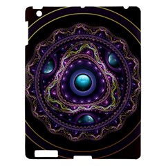 Beautiful Turquoise and Amethyst Fractal Jewelry Apple iPad 3/4 Hardshell Case