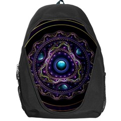 Beautiful Turquoise and Amethyst Fractal Jewelry Backpack Bag