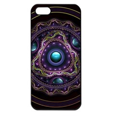 Beautiful Turquoise and Amethyst Fractal Jewelry Apple iPhone 5 Seamless Case (Black)
