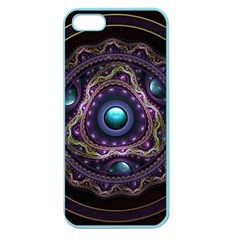 Beautiful Turquoise and Amethyst Fractal Jewelry Apple Seamless iPhone 5 Case (Color)