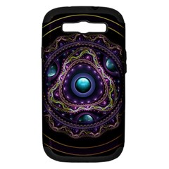 Beautiful Turquoise and Amethyst Fractal Jewelry Samsung Galaxy S III Hardshell Case (PC+Silicone)