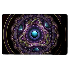 Beautiful Turquoise and Amethyst Fractal Jewelry Apple iPad 2 Flip Case