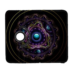 Beautiful Turquoise and Amethyst Fractal Jewelry Galaxy S3 (Flip/Folio)