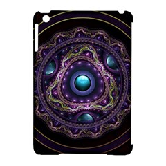 Beautiful Turquoise and Amethyst Fractal Jewelry Apple iPad Mini Hardshell Case (Compatible with Smart Cover)