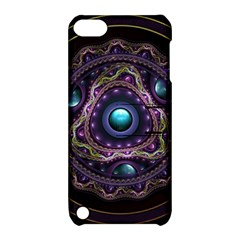 Beautiful Turquoise and Amethyst Fractal Jewelry Apple iPod Touch 5 Hardshell Case with Stand