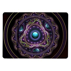Beautiful Turquoise and Amethyst Fractal Jewelry Samsung Galaxy Tab 10.1  P7500 Flip Case