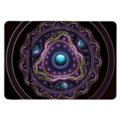 Beautiful Turquoise and Amethyst Fractal Jewelry Samsung Galaxy Tab 8.9  P7300 Flip Case