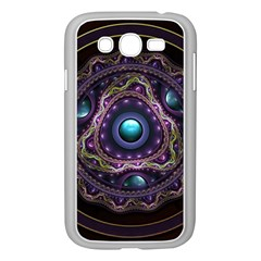 Beautiful Turquoise and Amethyst Fractal Jewelry Samsung Galaxy Grand DUOS I9082 Case (White)