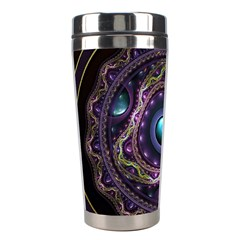 Beautiful Turquoise and Amethyst Fractal Jewelry Stainless Steel Travel Tumblers