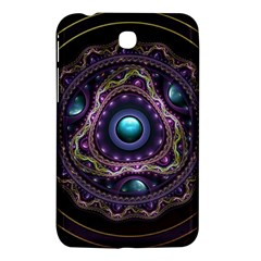 Beautiful Turquoise and Amethyst Fractal Jewelry Samsung Galaxy Tab 3 (7 ) P3200 Hardshell Case