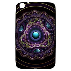 Beautiful Turquoise and Amethyst Fractal Jewelry Samsung Galaxy Tab 3 (8 ) T3100 Hardshell Case