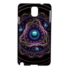Beautiful Turquoise and Amethyst Fractal Jewelry Samsung Galaxy Note 3 N9005 Hardshell Case