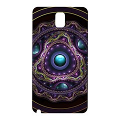 Beautiful Turquoise and Amethyst Fractal Jewelry Samsung Galaxy Note 3 N9005 Hardshell Back Case