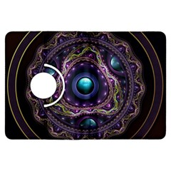 Beautiful Turquoise and Amethyst Fractal Jewelry Kindle Fire HDX Flip 360 Case