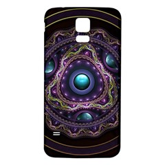 Beautiful Turquoise and Amethyst Fractal Jewelry Samsung Galaxy S5 Back Case (White)
