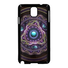 Beautiful Turquoise and Amethyst Fractal Jewelry Samsung Galaxy Note 3 Neo Hardshell Case (Black)