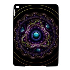 Beautiful Turquoise and Amethyst Fractal Jewelry iPad Air 2 Hardshell Cases