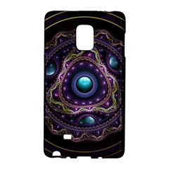 Beautiful Turquoise and Amethyst Fractal Jewelry Galaxy Note Edge