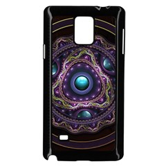 Beautiful Turquoise and Amethyst Fractal Jewelry Samsung Galaxy Note 4 Case (Black)