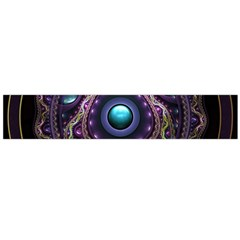 Beautiful Turquoise and Amethyst Fractal Jewelry Flano Scarf (Large)