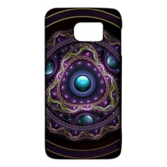 Beautiful Turquoise and Amethyst Fractal Jewelry Galaxy S6