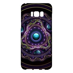 Beautiful Turquoise And Amethyst Fractal Jewelry Samsung Galaxy S8 Plus Hardshell Case