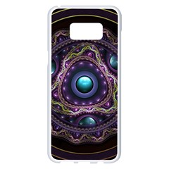 Beautiful Turquoise And Amethyst Fractal Jewelry Samsung Galaxy S8 Plus White Seamless Case