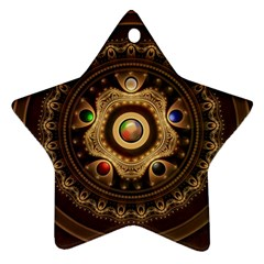 Gathering The Five Fractal Colors Of Magic Ornament (star)