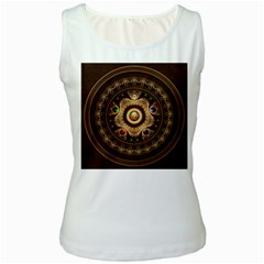 Gathering The Five Fractal Colors Of Magic Women s White Tank Top