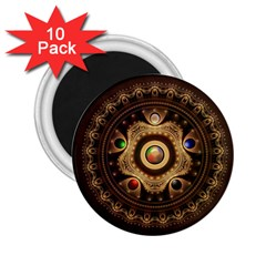 Gathering the Five Fractal Colors Of Magic 2.25  Magnets (10 pack)