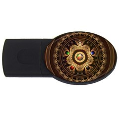 Gathering the Five Fractal Colors Of Magic USB Flash Drive Oval (2 GB)