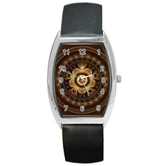 Gathering the Five Fractal Colors Of Magic Barrel Style Metal Watch