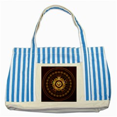 Gathering the Five Fractal Colors Of Magic Striped Blue Tote Bag