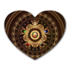 Gathering the Five Fractal Colors Of Magic Heart Mousepads