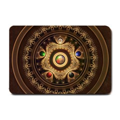 Gathering the Five Fractal Colors Of Magic Small Doormat