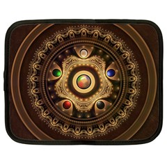 Gathering the Five Fractal Colors Of Magic Netbook Case (Large)