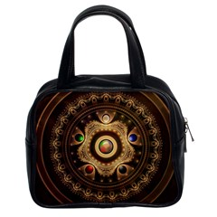 Gathering the Five Fractal Colors Of Magic Classic Handbags (2 Sides)